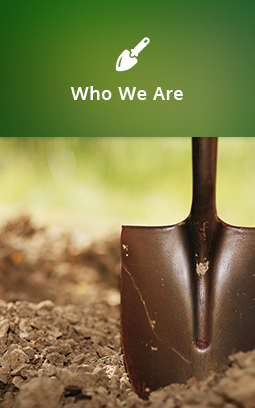 A shovel in the dirt. Click to learn more about LandCare.